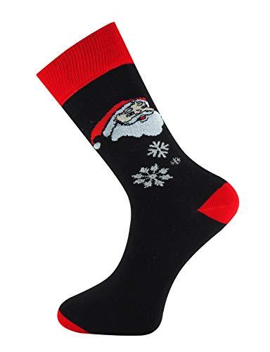 �ckchen Schwarz Rot Weihnachtsmann Kopf ()