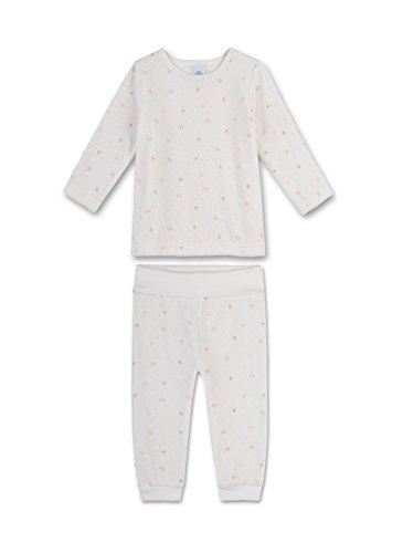 Sanetta Baby-Mädchen Zweiteiliger Schlafanzug 221339, Beige (Broken White 1427), 80