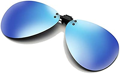 cyxus Aviator-Gafas Gafas de sol polarizadas, Flash, lentes de espejo Classic Clip-on Receta [Anti-Glare] [Protección UV] conducción/Pesca Eyewear, Hombres y Mujeres