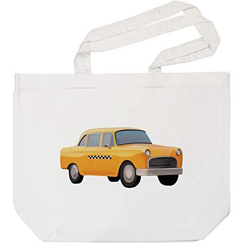 Azeeda 'New Yorker Taxi' Weiße Einkaufstasche (BG00005580)