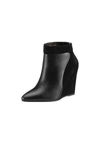 Stivaletti Stivali Alla Caviglia Donna in pelle di Andrea - Nero, Donna, 42 EU