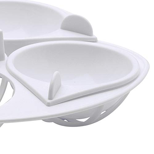 31h28n1IxrL. SS500  - KitchenCraft Microwave Egg Poachers, Poached Egg Maker for 4 Eggs, White