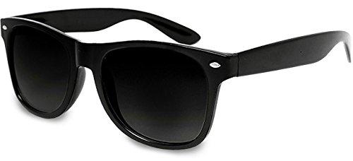 UVprotect Retro style Sonnenbrille unisex UV400 Schutz Schwarz4 W01