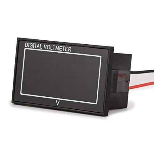 Hemobllo DC 7.5-19.99V LCD Affichage Num/érique Tension Voltm/ètre Amp/èrem/ètre Noir