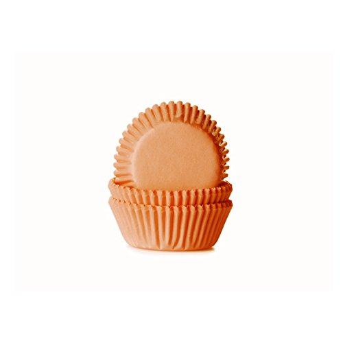 House of Marie 60 Mini Muffinförmchen, orange (Für Halloween Mini-cupcake-ideen)