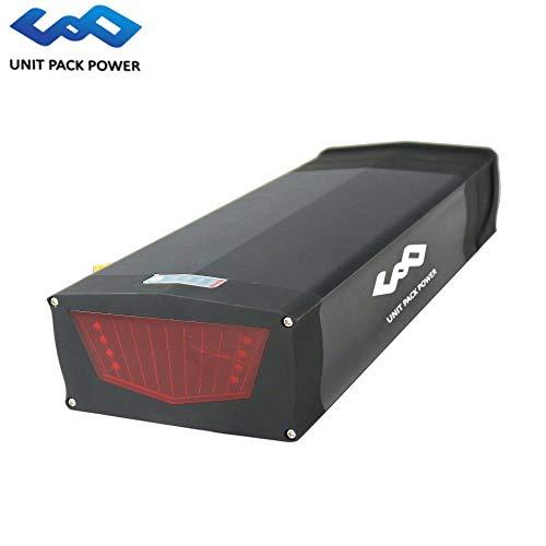 48V 15AH / 20AH E-Bike Lithium-Batterie Akku mit USB-Anschluss und 30A BMS für 48V 200W-1000W Elektro-Fahrradmotor (Black, 48V 20AH) 30a-anschluss