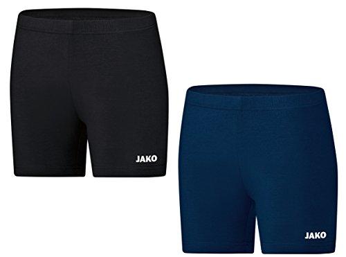 JAKO Volleyball Damen Tight Short Pant kurze Volleyball Hose, Grösse:40;Farben:Dunkelblau