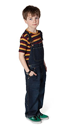 Uskees Dungarees For Kids Age 10-14 Indigo Blue Girls Dungarees Boys Dungarees USK.KD04-Age 12