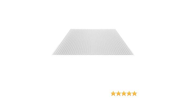 Farbe Opal Wei/ß Material Polycarbonat Stegplatte Hohlkammerplatte St/ärke 16 mm Breite 980 mm Stegf/ünffachplatte Extra stark
