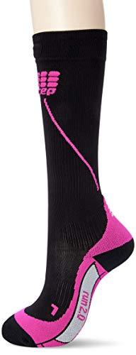 CEP - Run Socks 2.0, Laufsocken lang für Damen, schwarz/pink in Größe IV, Kompressionsstrümpfe Made by medi