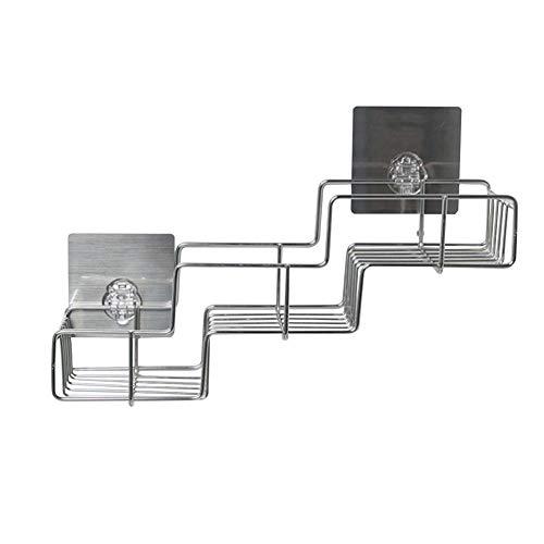 Aufbewahrungsregal, SEBS + PP + Edelstahl, 440 x 330 x 400 mm, geeignet für Balkone, Badezimmer, Küche, Badezimmer