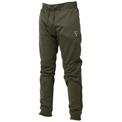 Fox Collection Green/Silver LW Jogger - Hose für Angler, Angelhose für Karpfenangler, Jogginghose, Anglerhose zum Angeln, Größe:XL
