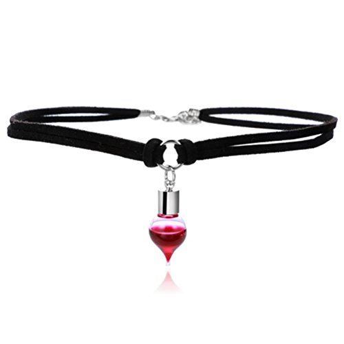 BESTOYARD Einstellbare Red Blood Drip Choker Halskette Halloween -