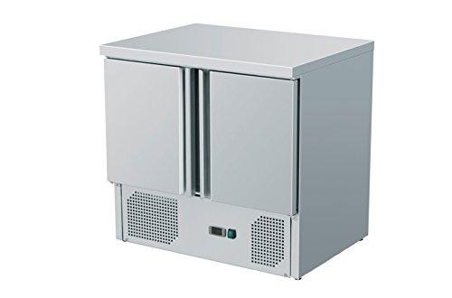 Zorro - Kühltisch ZS901 - 2 Türen - Gastro Saladette mit Arbeitsfläche - R600A - Digitales Thermostat