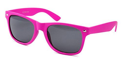 Sonnenbrille Nerdbrille Nerd Retro Look Brille Pilotenbrille Vintage Look - ca. 80 verschiedene Modelle Pink Gummiert
