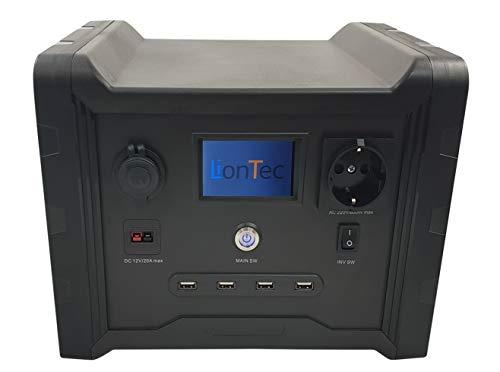 LionTec Mobile Power Supply Stromversorgung Energiespeicher 600 W 320 Wh Lithium-Ionen mit hoher Performance
