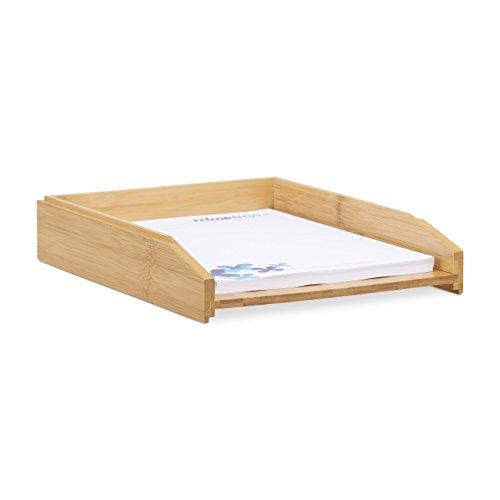 Relaxdays Dokumentenablage, stapelbar, DIN A4 Papier, Büro, Schreibtisch, Briefablage aus
