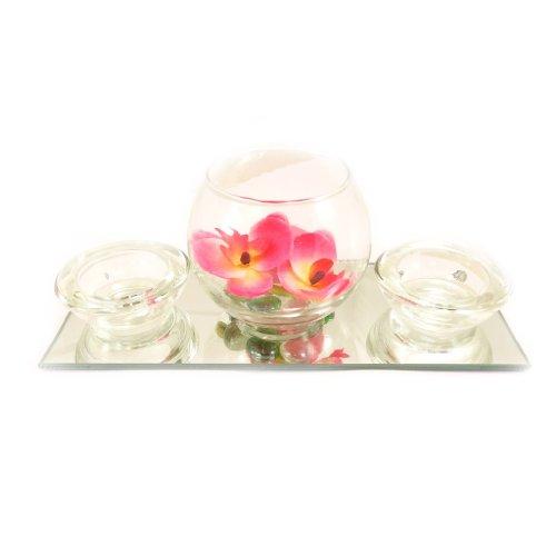 Set velas flotantes 'Belle De Soie'espejo (rosa).