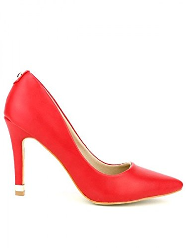 Cendriyon, Escarpin Fashiona Rouge Chaussures Femme Rouge