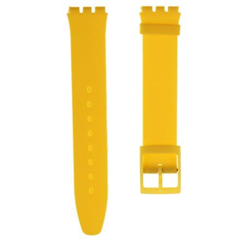 Baoblaze 16mm Sport Wasserfest Flexibel Silikon Uhrenarmbänder Watch Strap - Farben Auswählen - Farben Auswählen - Ingwer (Ingwer-band)