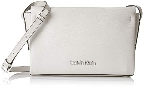 Calvin Klein Damen Avant Ew Crossbody Umhängetasche Weiß (Bright White) 5x16x25 cm