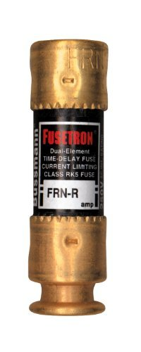 Bussmann FRN-R-2 2 Amp Fusetron Dual Element Time-Delay Current Limiting Fuse Class RK5, 250V UL Listed by Bussmann 2 Amp Bussmann Fuse