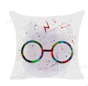 Fugift Home Decorativo Harry Potter Style Sofá Funda de cojín Funda de Almohada para sofá o Cama...