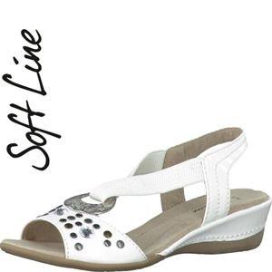 Jana 28160-100, Sandali donna Bianco (bianco)