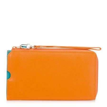 mywalit Damen Geldbörse wallet Portemonaie Handyhülle wristlet 1219-115 Orange bunt