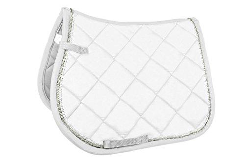 HKM Sports Equipment GmbH Schabracke, groß gesteppt, mit Funktionsfutter Sattel-& Zaumzeug, 1200 weiß, Pony Dressur
