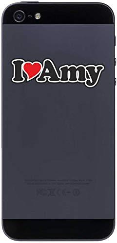 Aufkleber - I Love Heart - Decal Handyaufkleber Handyskin 50 mm Ich Liebe - Name (Mann, Frau, Kind, Junge, Mädchen) - I Love Amy
