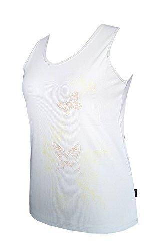 Schneider Sportswear Damen Mette Rippshirt Shirt Top Achselshirt Bodyline Weiß/Gelb