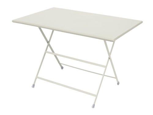 Emu arc en ciel table pliante en acier blanc, emu outdoortisch-terassentisch jardin -