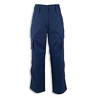 Alexandra STC-NF100NA-26R Women's Ambulance Combat Trouser, Regular, Plain, 65% Polyester/35% Cotton, Size: 26, Navy