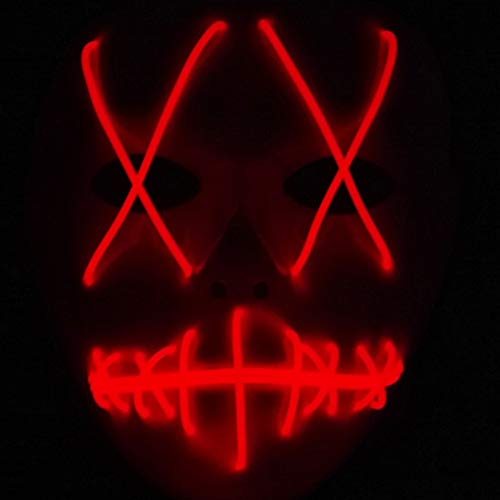 Led Stick Person Kostüm - DBKILL Halloween Männer Horror Led Maske