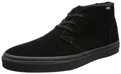 Vans U CHUKKA DECON (FLEECE) BLACK/ VQE88L0, Unisex-Erwachsene Sneaker, Schwarz ((Fleece) black/dark shadow), EU 36 (US 4.5)