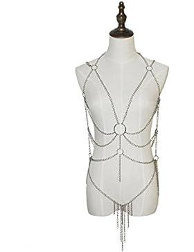 Adesugata donna sexy lingerie imbracatura nappe catena da donna tutina pigiama sexy tre punti prospettiva Underwear...