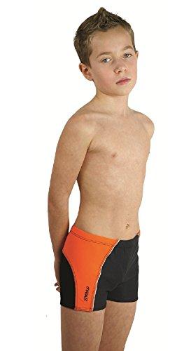 Zagano Kinder Jungen Badehose 2817 Schwarz-Orange