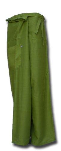 Thai Fisherman Pants Yoga l'herbe verte écharpe longue pantalons paréos douces