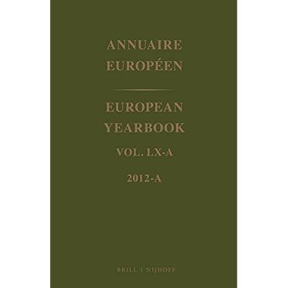 Annuaire Européen 2012 / European Yearbook 2012