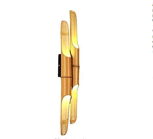 ♪ * Schlafzimmer Led Wandleuchte Natürlicher Bambus Pole Handgefertigte Bambusrohr Lampe Nachttischlampen Hotel Lobby Korridor Technik Lampe Wohnzimmer Balkon Gang Bambus Wandlampen Led Nachtlichter ♪ -