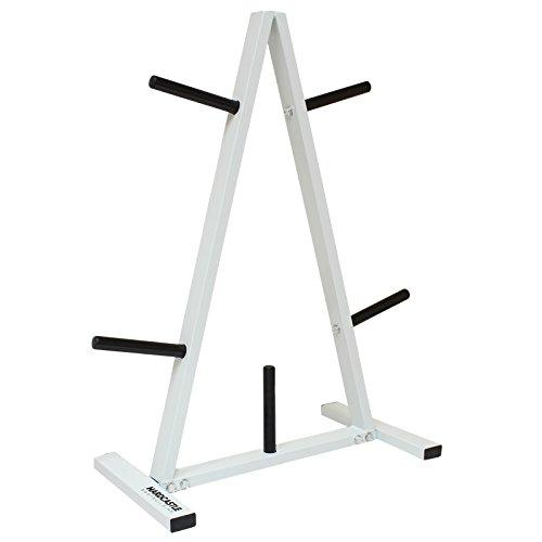 """Hardcastle - Ständer für standardmäßige Hantelscheiben von 2,5 cm (1"""") Stärke - mit Neigung"""