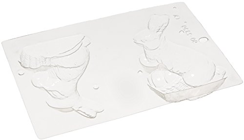 Paderno World Cuisine Single (Paderno World Cuisine Single Imprint Polypropylene 5.875 Inch Bunny With Egg Chocolate Mold (Front and Back))