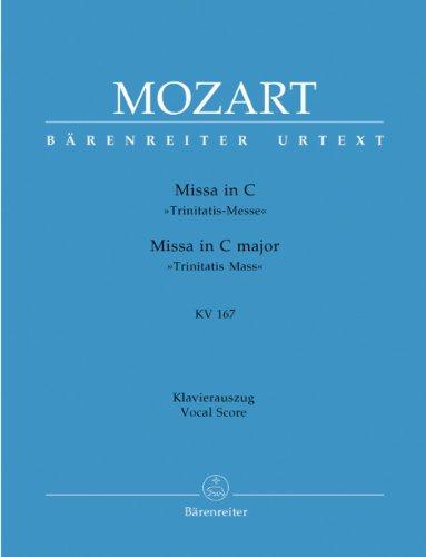 Missa C-Dur KV 167 (Trinitatismesse). Klavierauszug