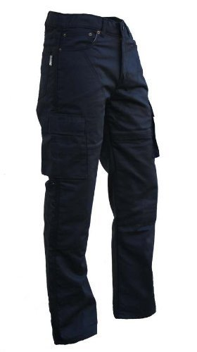Bikers-Gear-UK-Pantalone-nero-TREND-Cargo-con-protezione-KEVLAR-e-Impermeabile-taglia-EU-46-regular