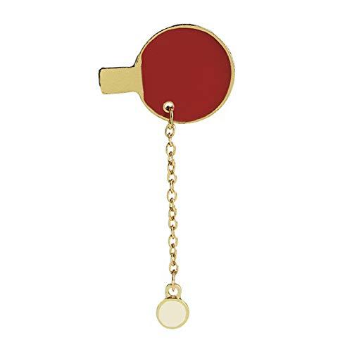 Meigold Sport Brosche Badminton Tischtennisschläger Brosche Unisex Bekleidungszubehör