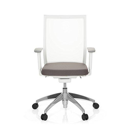 hjh OFFICE Bürostuhl Aspen White mit selbstheilendem Netzrücken, höhenverstellbare Armlehnen, Drehstuhl, Schreibtischstuhl...