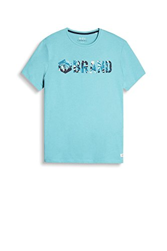 edc by ESPRIT Herren T-Shirt 057cc2k040 Grün (Aqua Green 380)