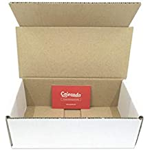 Pack de 50 Cajas de Cartón Automontables en Canal Simple y Color Blanco. Para Mudanzas