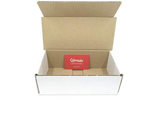 Paquete de 50 cajas de cartón para almacenar o enviar objetos. Medidas interiores y en cm (21 x 10 x 7) Cajas de cartón especialmente adecuadas para tiendas online (ecommerce) o particulares que necesiten realizar envíos de objetos ...